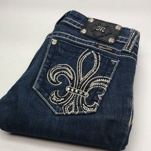 MISS ME PREMIUM BOOTCUT JEANS 27x30 CRYSTALS 💎